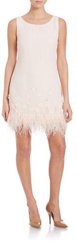 Jessica Simpson Feather Dress