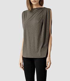 Womens Noir Top (Khaki) - product_image_alt_text_2