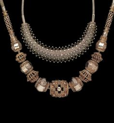 Silver necklaces from Sri Lanka | ©The Splendour of Ethnic Jewelry: From the Colette and Jean-Pierre Ghysels Collection. Text: France Borel. Photographs: John Bigelow Taylor. Thames and Hudson, 1994. Page 150