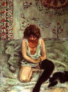 Pierre Bonnard - Woman with Black Stockings