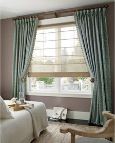 Boston's home for custom window treatment solutions. The best window coverings in the industry such as Hunter Douglas, Norman Shutters, Lutron, Graber and More! Picture Window Treatments, Modern Window Treatments, Window Treatments Living Room, Traditional Window Treatments, Curtains For Picture Window, Large Window Curtains, Blinds For Large Windows, Green Curtains, Window Shutters
