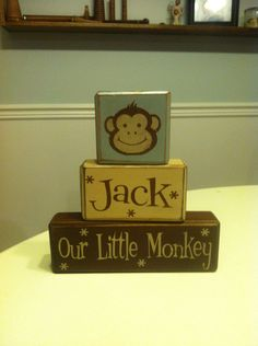 Anne wilkinson if i were a monkey board book available at personalized baby gift monkey baby shower gift centerpiece our little monkey wood sign primitive distressed monkey sign blocks shelf negle Choice Image