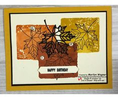 Stamping Creations With Marilyn - Creations with stamps, ink and paper. Seasons Of The Year, Embossing Folder, Stamping, Card Stock, Birthday Cards, Card Making, About Me Blog, How To Apply, Posts