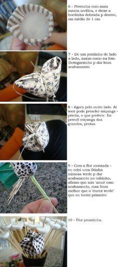 Solountip.com: Como hacer tulipanes en tela para mamá