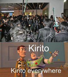 funny kirito | Funny Mama - Kirito EVERY WHERE.....!!!
