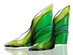 Thermofused glass by Canadian sculptor Angela Verlaeckt Clark.