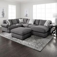Kitchen / Living Room Simple yet stylish, the Jameson grey sectional is an excellent choice for your Farm House Living Room, Small Living Room Design, Living Room Sets, Cheap Living Room Sets, Furniture, Grey Sectional, Home Living Room, Sectional Sofa, Living Room Grey