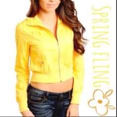 Yellow Bomber Jacket S/M/L Super soft & comfy, light weight yellow bomber jacket! 97% cotton & 3% spandex for a little stretch! Great for fall & awesome staple to layer with in winter!!! I have S M & L - true to size - let me know what size you would like! 🚫ITEM NOT ELIGIBLE FOR TRADE🚫 Active Basic Jackets & Coats