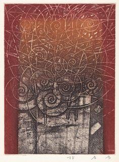 共生-symbiosis  版画集・風の絆 The portfolio/The Bounds of Wind   from the The original etching   林孝彦 HAYASHI Takahiko 1998