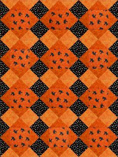 Black Cats Halloween  Quilt Blocks Kit Pre-Cut