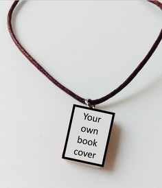 Mini book necklace ♥ Yes please!