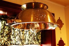 Farmhouse Decor - Colander light Fixture