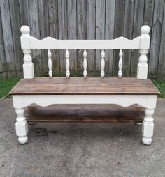 my-repurposed-life-distressed-white-twin-headboard-bench