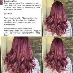 Matrix Hair Color, Aveda Hair Color, Mane Hair, California Hair, Hair Color Formulas, Cabello Hair, Neon Hair, Bright Hair Colors, Haircut And Color