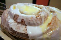 The 3lb Cinnamon Roll at Lulu's Bakery & Cafe in San Antonio Tx.... Bucket List Food