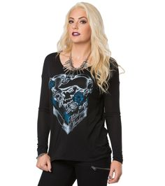 Item Features: -Materials: 65% Polyester/35% Viscose -Long Sleeve -Scoop Neck