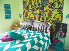 Boho room decor ideas boho bedroom decorating ideas accent wall bedding set