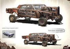 Vehicles weta workshop design studio proof of concept, mad max fury roa War Band, Chihiro Y Haku, Death Race, Mad Max Fury Road, Workshop Design, Post Apocalyptic, Concept Cars, Monster Trucks, Machine Video