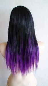 brown hair purple tips - Google Search
