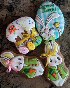 Galletas Cookies, Iced Cookies, Cute Cookies, Easter Cookies, Holiday Cookies, Cupcake Cookies, Sugar Cookies, Cookie Designs, Easter Recipes