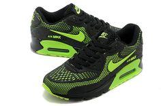 Nike Air Max 90 New Men's shoes Black Green - Click Image to Close