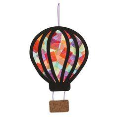 Hot Air Balloon Tissue Paper Craft Kit - such a lovely suncatcher idea *ad* Hot Air Balloon Craft For Kids, Hot Air Balloon Classroom Theme, Crafts To Make, Crafts For Kids, Arts And Crafts, Children Crafts, Balloon Crafts, Round Balloons, Air Ballon