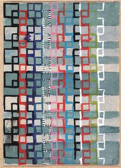 Gunta Stölzl - Bauhaus Master; Design for a Jacquard woven textile 1927 10.5x7.5 cm The J. Paul Getty Museum, Malibu, Ca