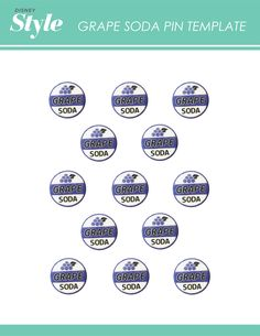 Up Movie Night Printable Templates for Grape Soda Pin and Balloon House Pop