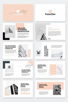 Business Power Point Presentation Template - Keynote - Ideas of Keynote - PowerPlan Business PowerPoint Presentation Template Portfolio Design Layouts, Page Layout Design, Portfolio Ideas, Portfolio Web, Architecture Portfolio Template, Interior Architecture, Design Web, Slide Design, Design Logo