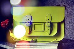 Neon Satchel Bag by Stella Rittwagen