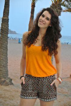 Curls and Bags by Nathalie Van den Berg: Outfit: Zara shorts
