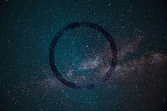 Photographie du ciel, nuit, voie lactée, Ardèche 2015. Graphisme +