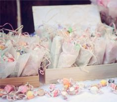The sweets from the vintage inspired tea party dessert table of Celebrations at Home