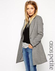 Image 1 - Exclusivité ASOS PETITE - Manteau cintré légèrement texturé