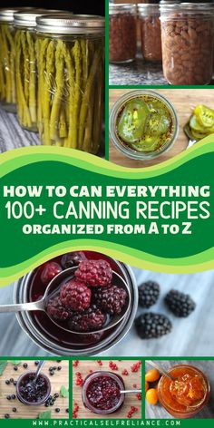 Once you start canning food at home, you'll want to find canning recipes to put Home Canning Recipes, Canning Tips, Cooking Recipes, Kitchen Recipes, Canning Food Preservation, Preserving Food, Canning Vegetables, Veggies, Water Bath Canning