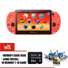 ลดราคา  Sony PSvita2000 SlimModel(PCH-2000)(Neon Orange)พร้อมเกมเต็มเมมโมรี่ 64GB  ราคาเพียง  12,590 บาท  เท่านั้น คุณสมบัติ มีดังนี้ ฟรีเมม 64gb แปลงเครื่องและลงเกมฟรีในเมม 25 เกม แปลงผ่าน cfw จึงไม่มีการแกะตัวเครื่องใดๆ ทั้งสิ้น REFURBISHED