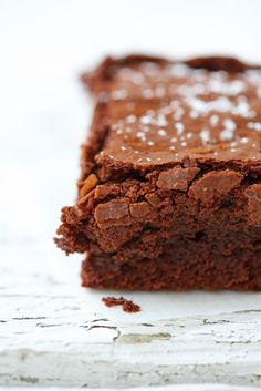 fudgy chocolate brownies.