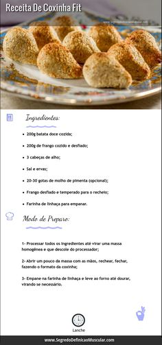 Vc gosta de coxinha e naonpode comer por que precisa emagrecer?Fitness Food - Live Healthier, Get Fitter: A Guide To Changing Your Life For The Better * You can find more details by visiting the image link.thus, should be avoided in exchange for these tip Healthy Snacks, Healthy Eating, Healthy Recipes, Healthy Fit, Light Recipes, Food Porn, Good Food, Food And Drink, Cooking Recipes