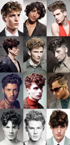 Curly hair.