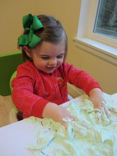 Shamrock craft with easy shaving cream puffy paint - so much fun!