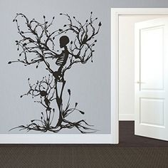 Shop for Gothic Wall Decal Halloween Decor Skeleton Art Sticker Tree Wall Art For Living Room Wall Vinyl. Get free delivery On EVERYTHING* Overstock - Your Online Art Gallery Shop! Halloween Wall Decor, Halloween Decorations, Wall Decorations, Wall Stickers Murals, Vinyl Wall Decals, Sticker Mural, Goth Home, Tree Wall Art, Tree Wall Decor