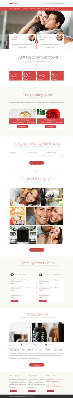 GeekLove - An Elegant .Psd Wedding Theme