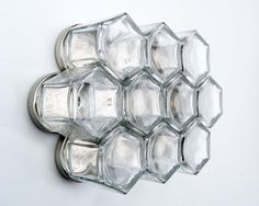 Hexagon Magnetic Spice Rack: 10 Customized Glass by GneissSpice