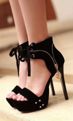 Fabulous Stylish Zipper Wrap Ankle Thin High Heel Sandals