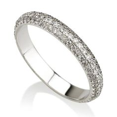 Diamond Eternity Band Diamond Eternity Ring Micro Pave Band #DiamondEternityRings