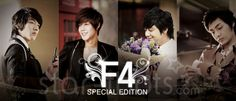 Boys Over Flowers poster from left to right Lee Min Ho, Kim Hyun Joong, Kim Bum and my baby Kim Joon<3 Note they're all my babies:)