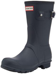 Amazon.com | Hunter Women's Original Short Snow Boot, Navy, 10 M US | Mid-Calf | @giftryapp