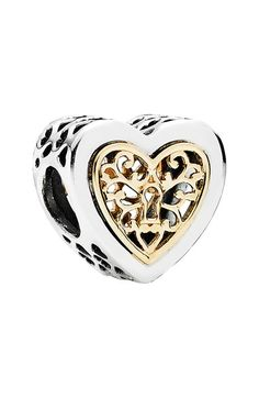PANDORA 'Locked Hearts' Charm available at #Nordstrom