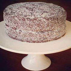 My inspiration for this cake came from @colessupermarkets magazine April edition  My first attempt at making a Lamington Cake. They boys have been waiting very patiently for the chocolate icing to set. I'll be slicing it very soon  #glutenfree #dairyfree #lactosefree #soyfree #nutfree #rawcacaopowder #homemadecakes #lamingtoncake #glutenfreerecipes #coeliac #coeliaclife #recipedevelopment  #Perth #australia #perthblogger
