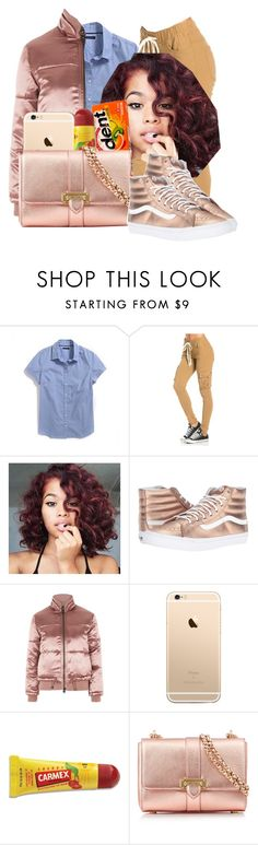 """""""rosegold high"""" by kiyanna0417 on Polyvore featuring Vans, Topshop, Chanel, Carmex and Aspinal of London"""
